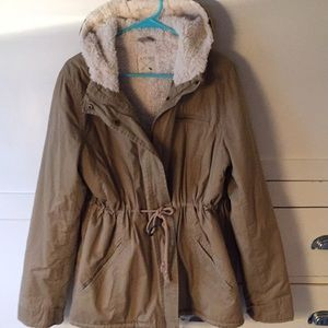 American eagle Sherpa lined coat L